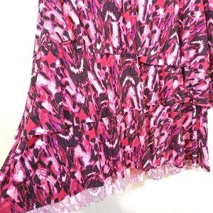 Susan Graver Tops - Susan Graver pink tiered ruffle tunic top 1X